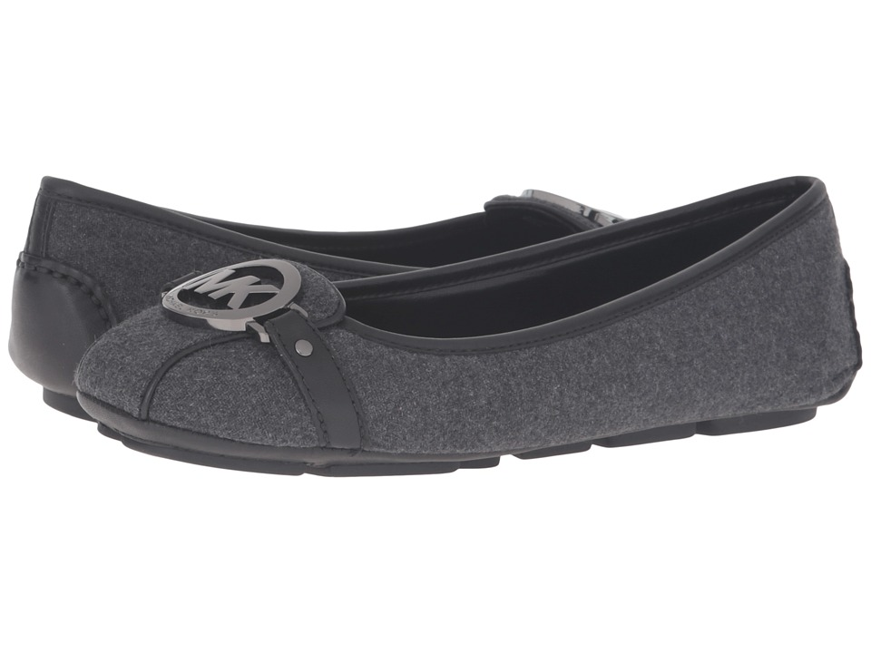 MICHAEL Michael Kors - Fulton Moc (Charcoal Flannel/Nappa) Women's Slip on Shoes