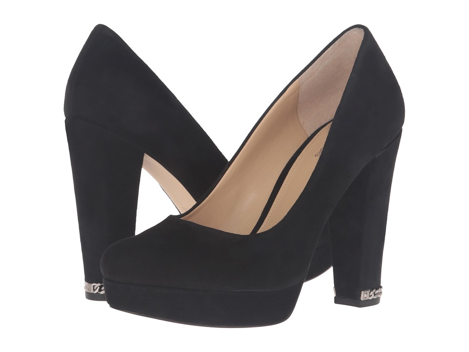 MICHAEL Michael Kors - Sabrina Pump (Black Kid Suede) High Heels