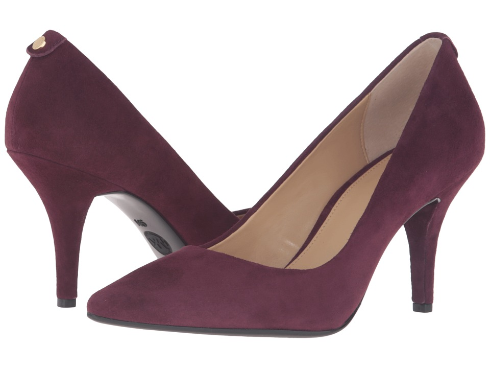 MICHAEL Michael Kors - MK Flex Mid Pump (Plum Kid Suede) High Heels