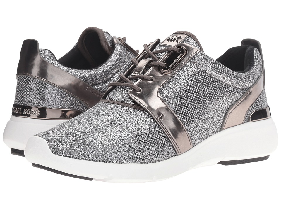 MICHAEL Michael Kors - Amanda Trainer (Gunmetal Glitter Mesh/Mirror Metallic) Women's Shoes