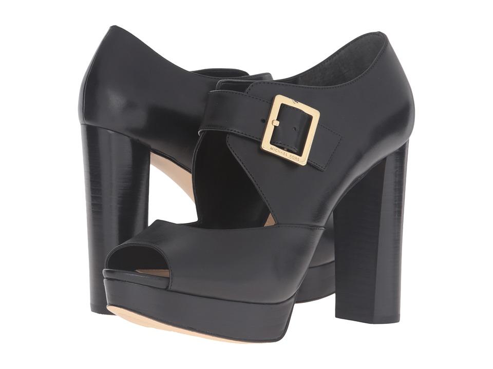 MICHAEL Michael Kors Eleni Platform (Black Smooth Calf) High Heels
