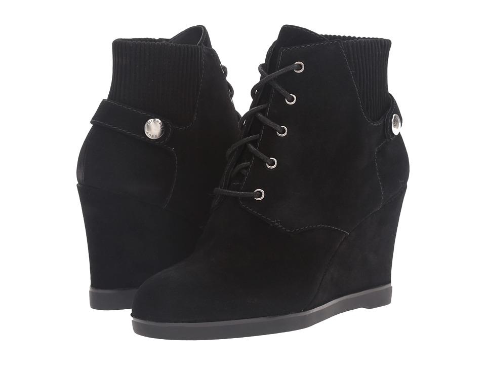 MICHAEL Michael Kors - Carrigan Wedge (Black Sport Suede) Women's Wedge Shoes