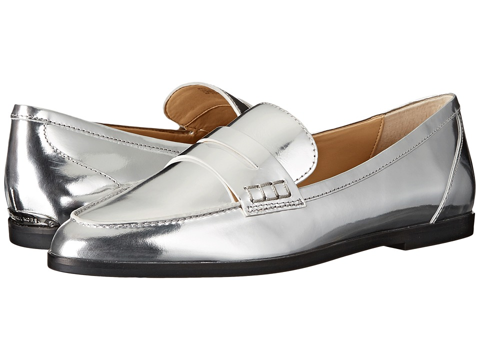 MICHAEL Michael Kors - Connor Loafer (Silver Specchio) Women's Slip on Shoes