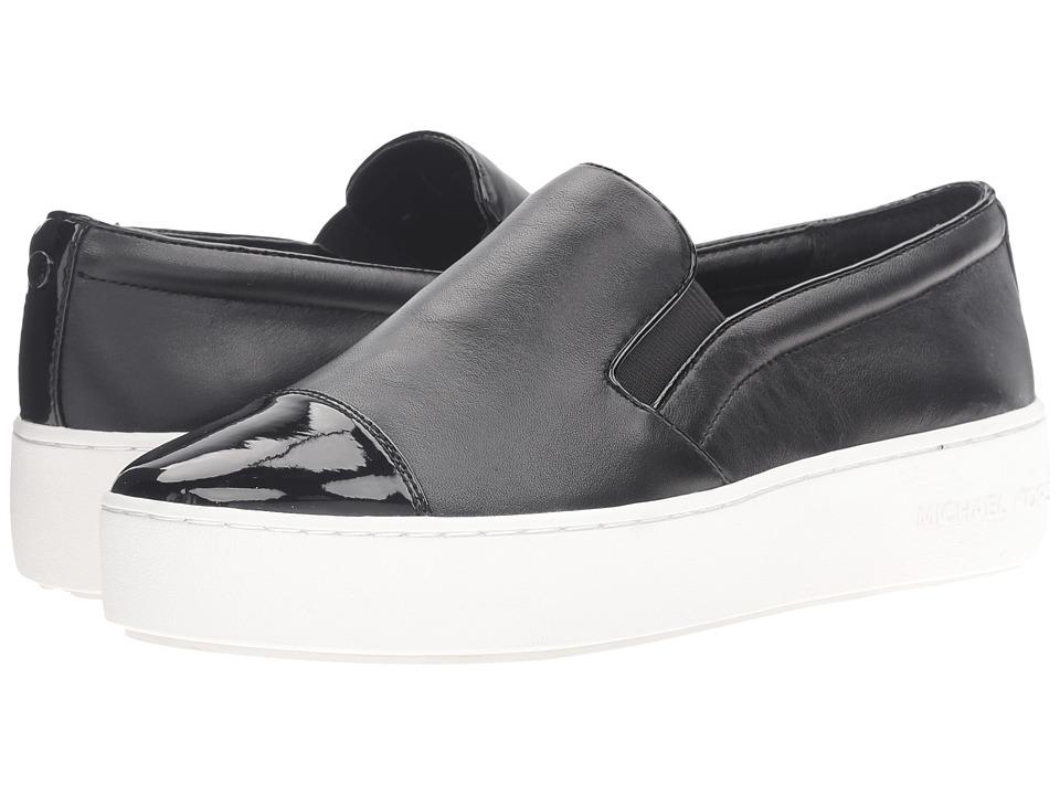 MICHAEL Michael Kors - Tia Slip-On (Black Nappa/Patent) Women's Slip on Shoes