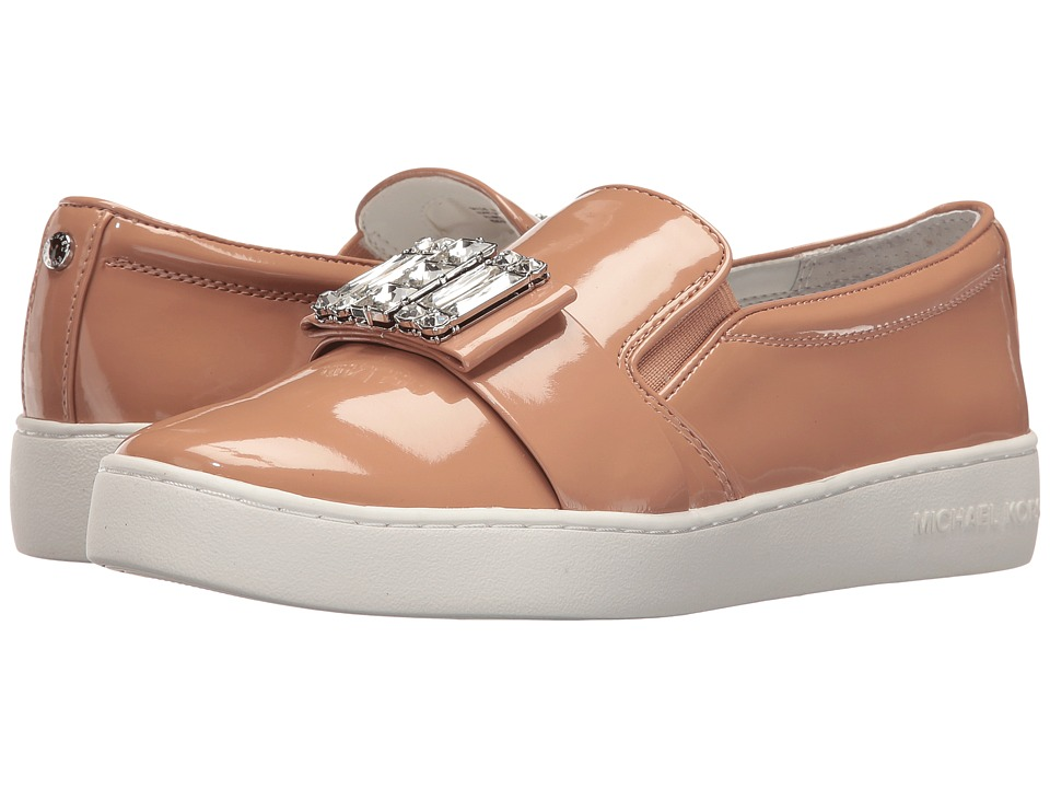 MICHAEL Michael Kors Michelle Slip-On Dark Nude Patent Womens Slip on  Shoes