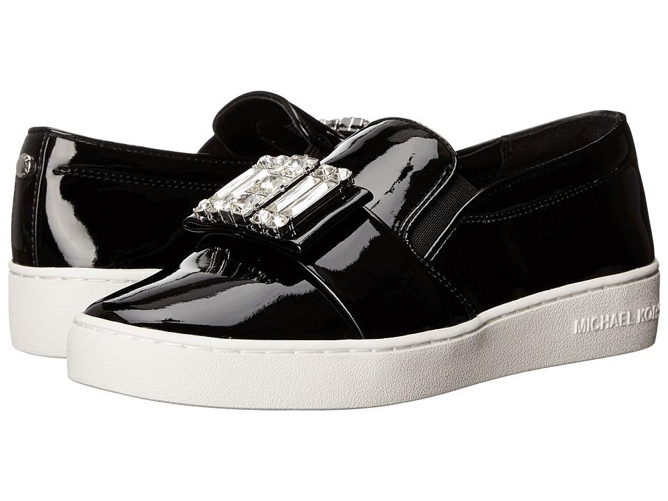 MICHAEL Michael Kors Michelle Slip-On Black Patent Womens Slip on  Shoes