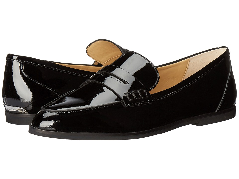 MICHAEL Michael Kors - Connor Loafer (Black Patent) Women's Shoes