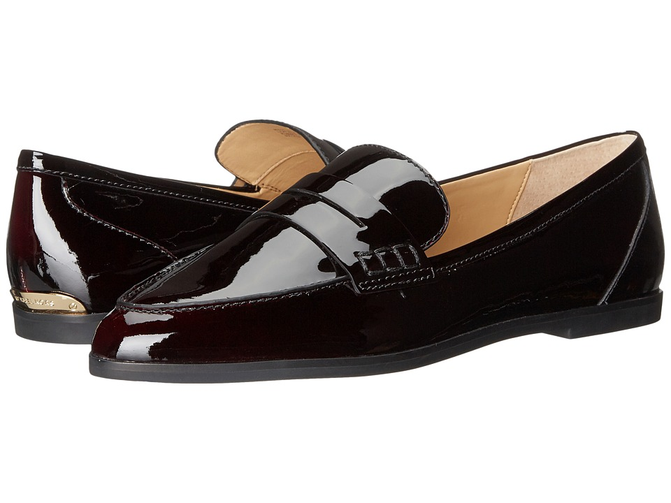 MICHAEL Michael Kors - Connor Loafer (Plum Pull Up Patent) Women's Slip on Shoes