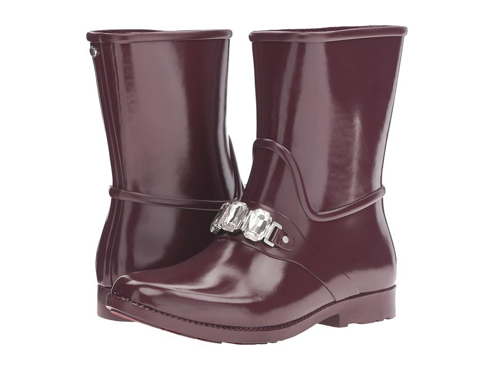MICHAEL Michael Kors - Leslie Rain Bootie (Plum Rubber/Stones) Women's Rain Boots