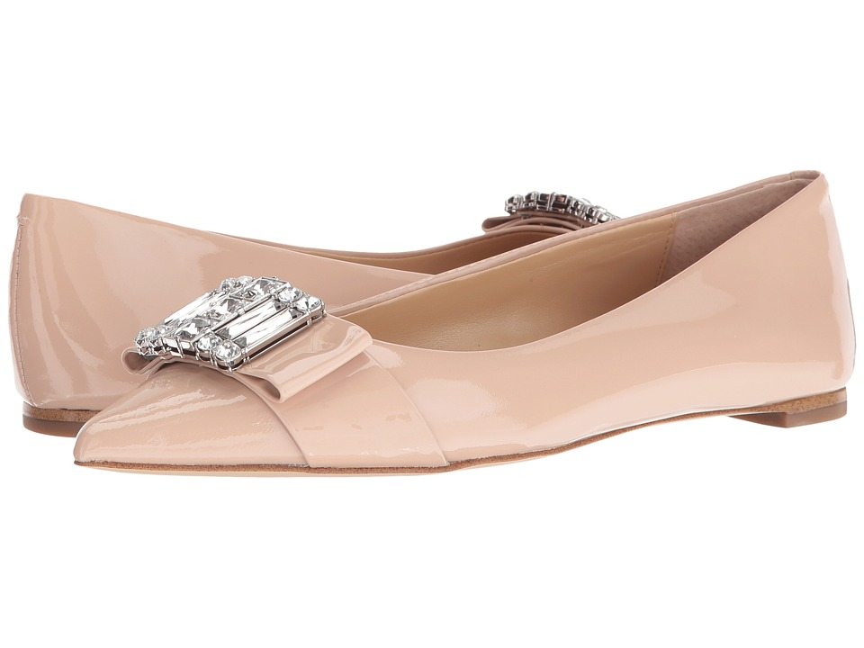 MICHAEL Michael Kors Michelle Flat (Light Blush Patent) Women
