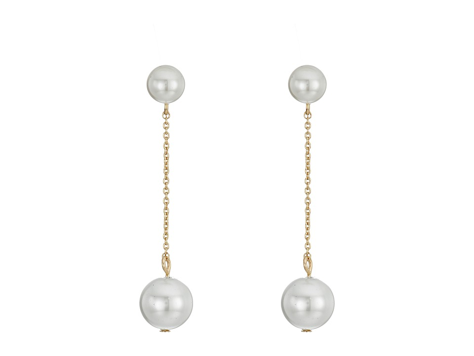 Rebecca Minkoff - Two Pearl Drop Earrings (Gold/Pearl) Earring