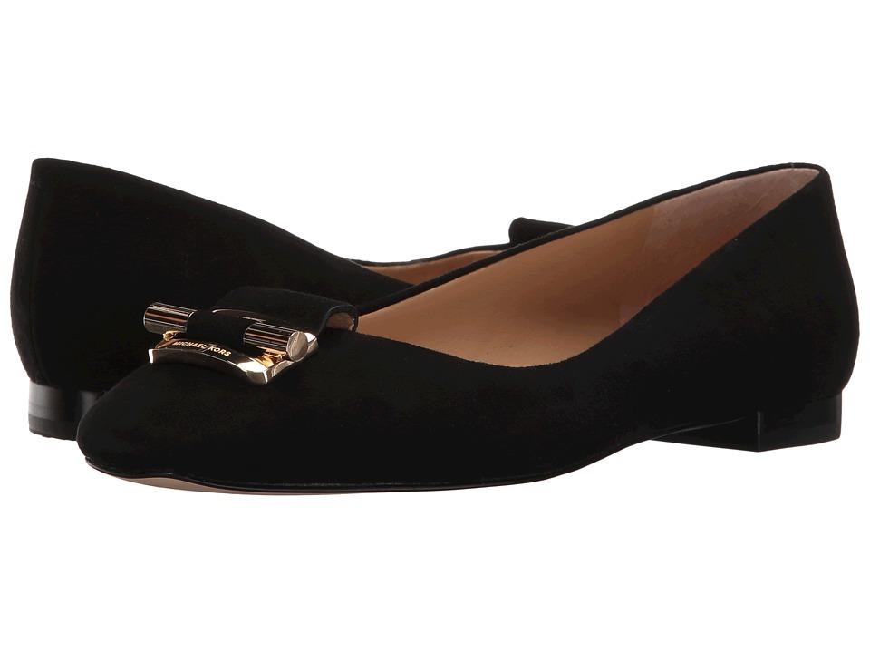 MICHAEL Michael Kors - Gloria Ballet (Black Kid Suede) Women's Shoes