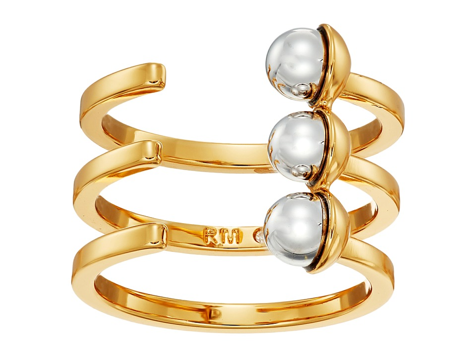 Rebecca Minkoff - Two-Tone Bead Wrap Ring (Gold/Rhodium) Ring