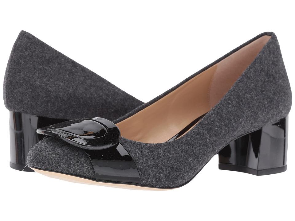 MICHAEL Michael Kors - Pauline Mid Pump (Charcoal Flannel/Patent) Women's Shoes