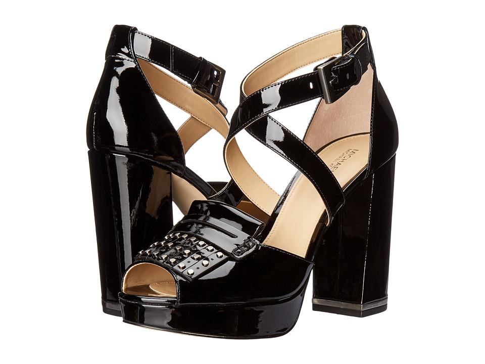 MICHAEL Michael Kors - Lindy Platform (Black Patent) Women's Shoes
