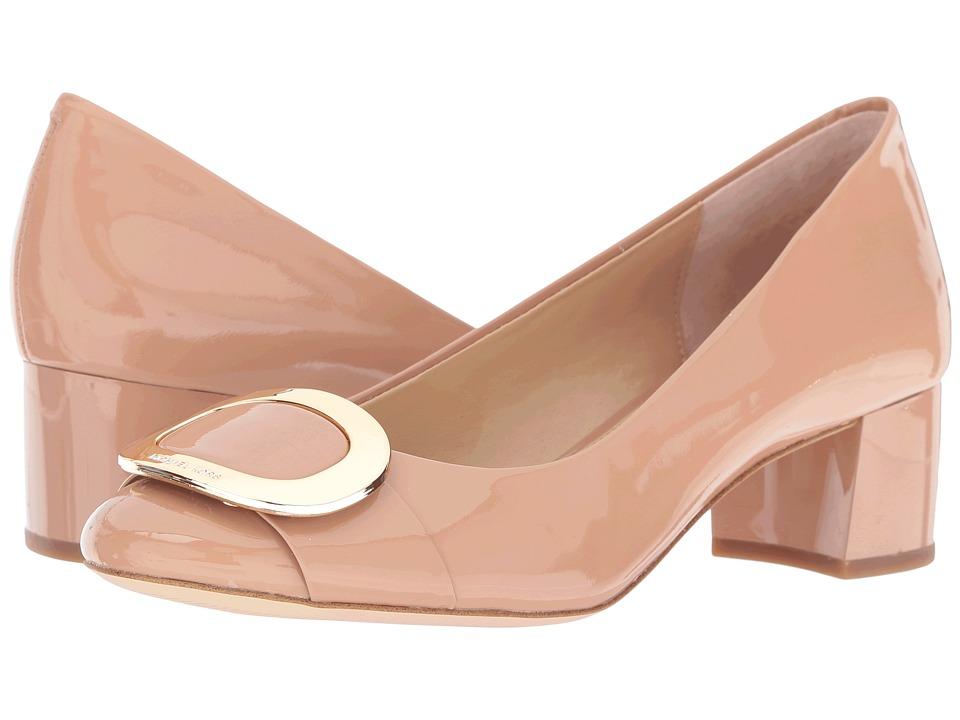 MICHAEL Michael Kors - Pauline Mid Pump (Dark Nude Patent) Women's Shoes