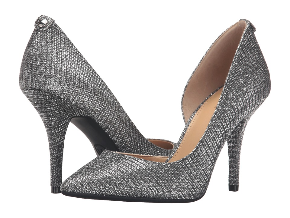 MICHAEL Michael Kors - Nathalie Flex High Pump (Black/Silver Glitter Chain Mesh) Women's Shoes