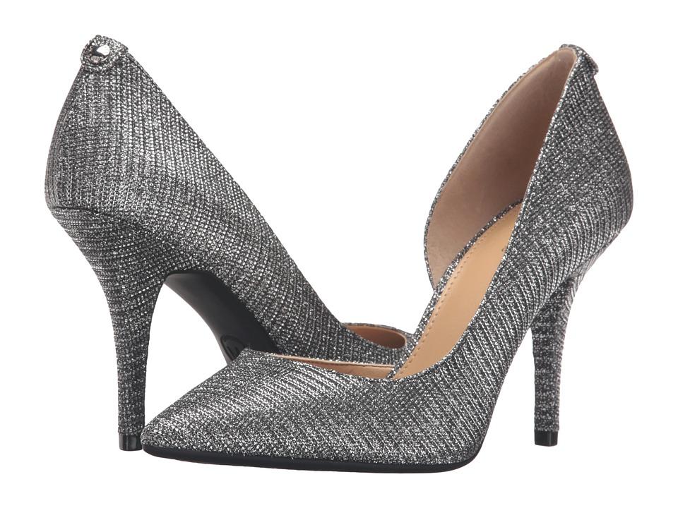 MICHAEL Michael Kors - Nathalie Flex High Pump (Black/Silver Glitter Chain Mesh) Women's Shoes