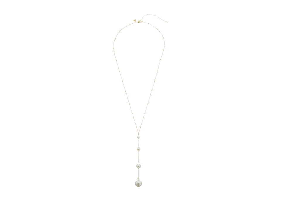 Rebecca Minkoff - Pearl Y Necklace (Gold/Pearl) Necklace