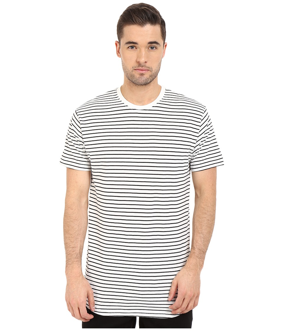 Akomplice - Striped Moan (Black) Men's Short Sleeve Pullover