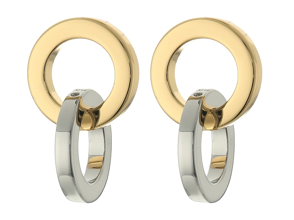 Rebecca Minkoff - Two-Tone Link Earrings (Gold/Rhodium) Earring