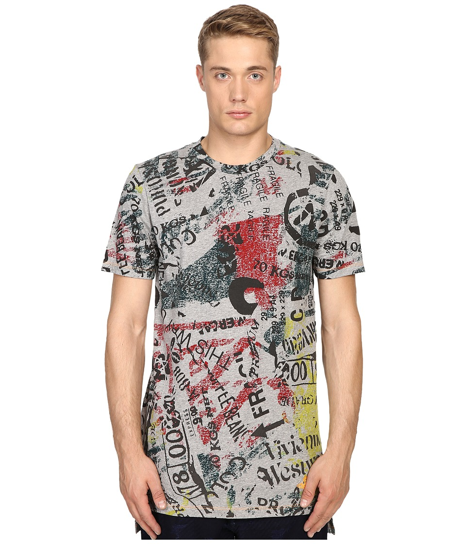 Vivienne Westwood - Anglomania Newspaper Rubbish T-Shirt (Grey) Men's T Shirt
