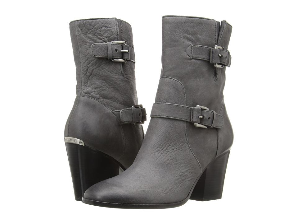 MICHAEL Michael Kors Ashton Mid Bootie Charcoal Waxy Nubuck Boots