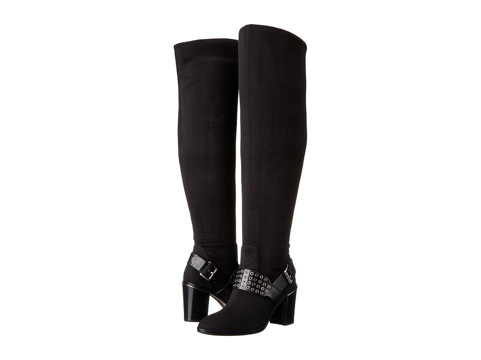 MICHAEL Michael Kors - Brody OTK Boot (Black Stretch Suede/Vachetta) Women's Boots