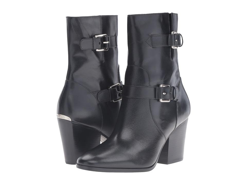 MICHAEL Michael Kors Ashton Mid Bootie Black Vachetta Womens Boots