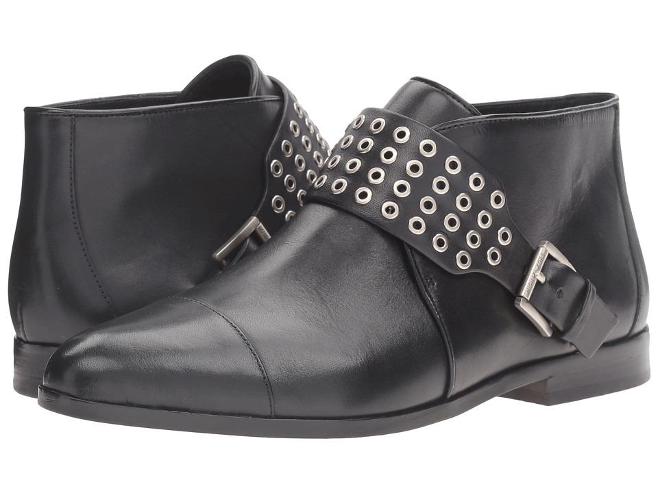 MICHAEL Michael Kors - Brody Flat Bootie (Black Vachetta) Women's Boots