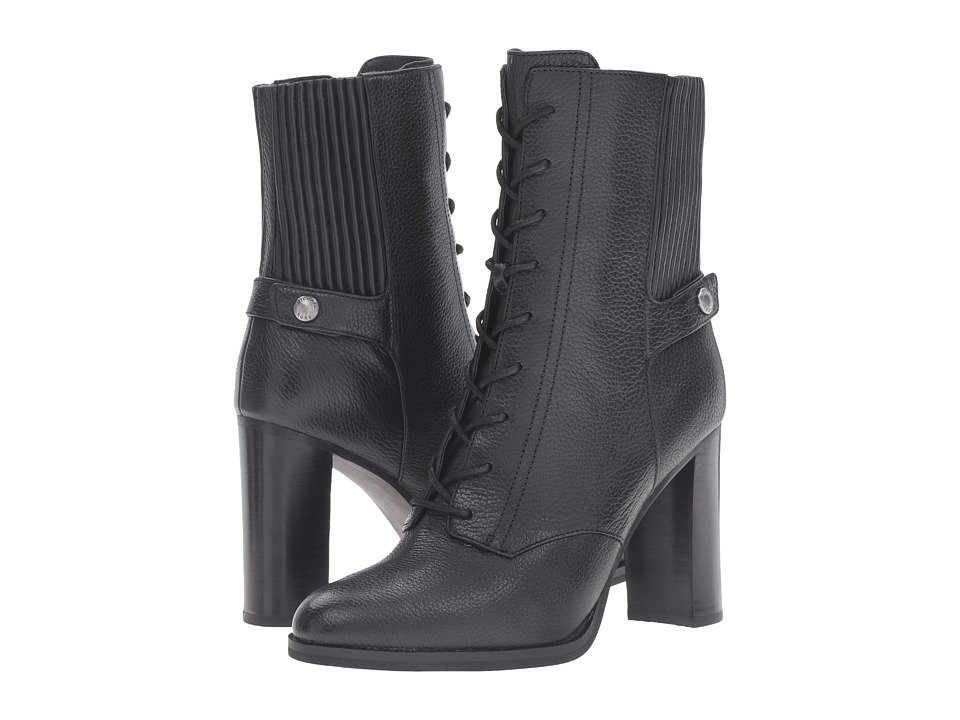 MICHAEL Michael Kors - Carrigan Bootie (Black Tumbled Leather) Women's Boots