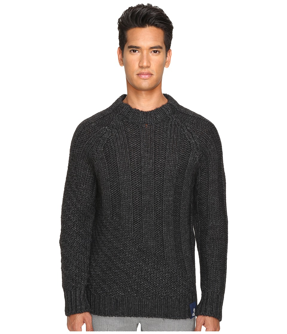 Vivienne Westwood - Anglomania Long Ribs Sweater (Charcoal) Men's Sweater