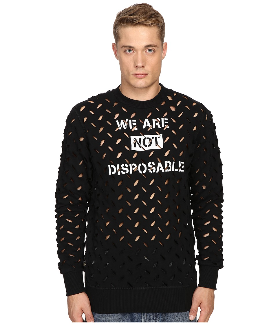 Vivienne Westwood - Anglomania We Are Not Disposable Sweater (Black) Men's Sweater