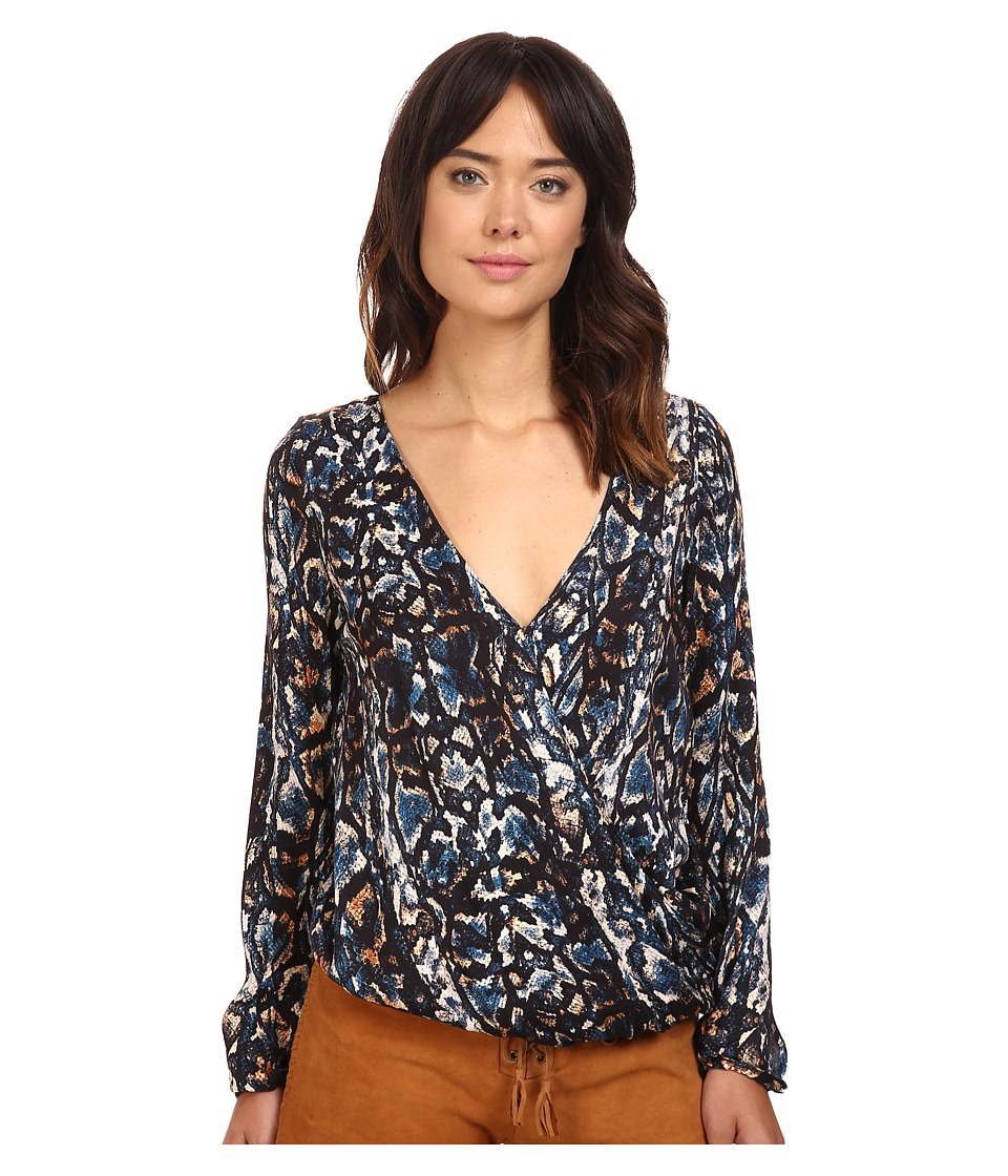 The Jetset Diaries - Viper Wrap Top (Viper Print) Women's Clothing