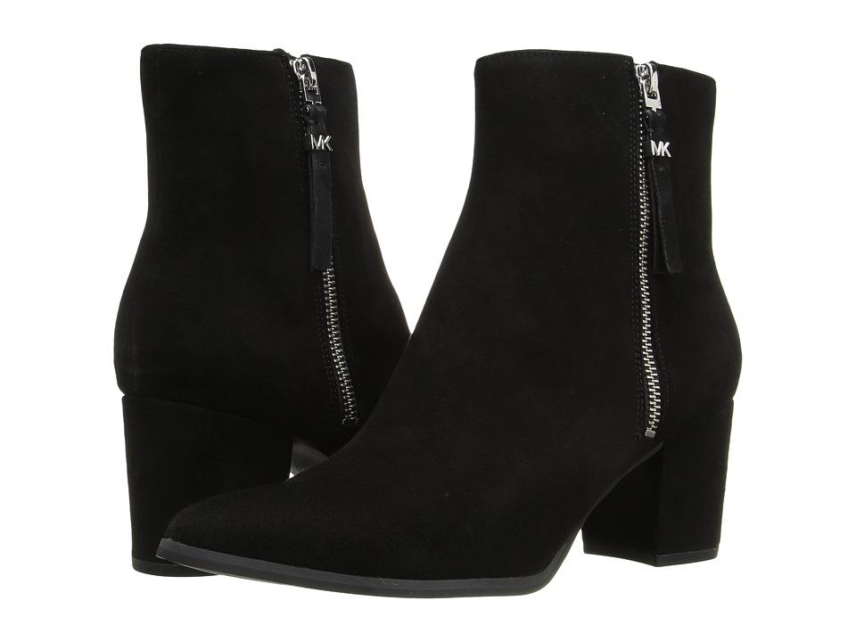 MICHAEL Michael Kors - Dawson Mid Bootie (Black Kid Suede) Women's Boots