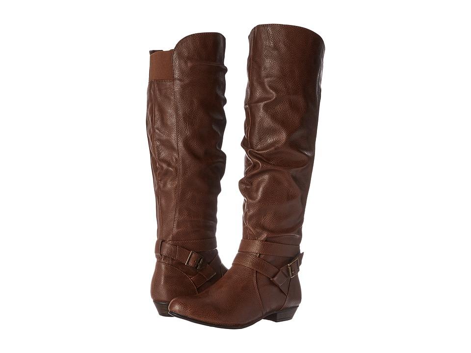 Fergalicious - Lara Wide Calf (Cognac Wide Calf) Women's Shoes plus size,  plus size fashion plus size appare