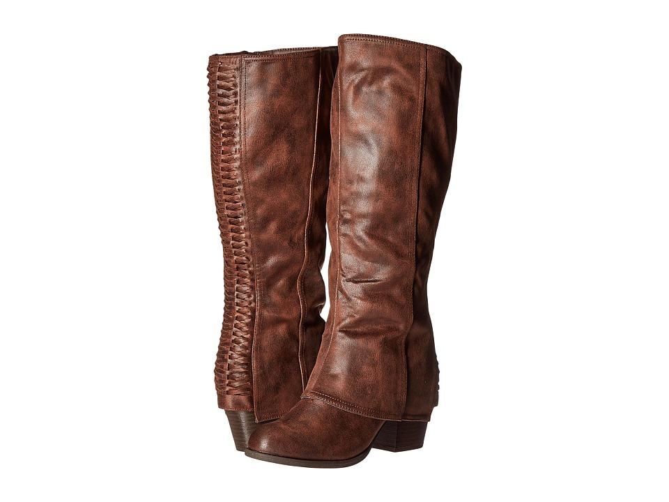 Fergalicious - Lundry Wide Calf (Cognac Wide Calf) Women's Shoes plus size,  plus size fashion plus size appare