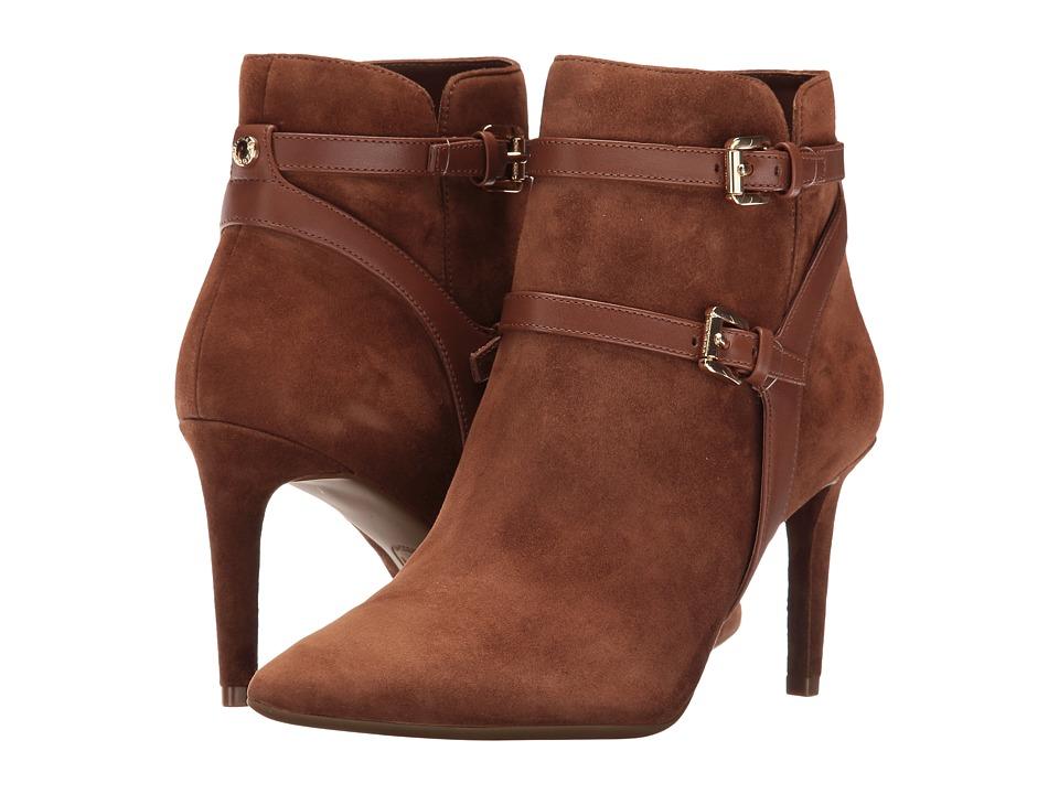 MICHAEL Michael Kors - Fawn Ankle Boot (Dark Caramel Kid Suede/Vachetta) Women's Boots