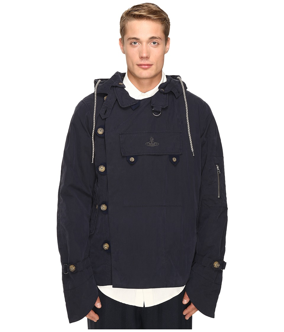 Vivienne Westwood - Anglomania Military Parker Jacket (Dark Blue) Men's Coat