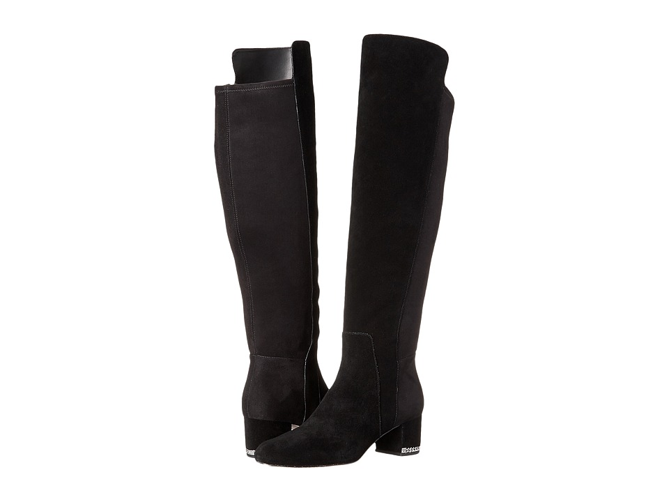 MICHAEL Michael Kors Sabrina OTK Boot (Black Sport Suede/Sensitive Stretch) Women
