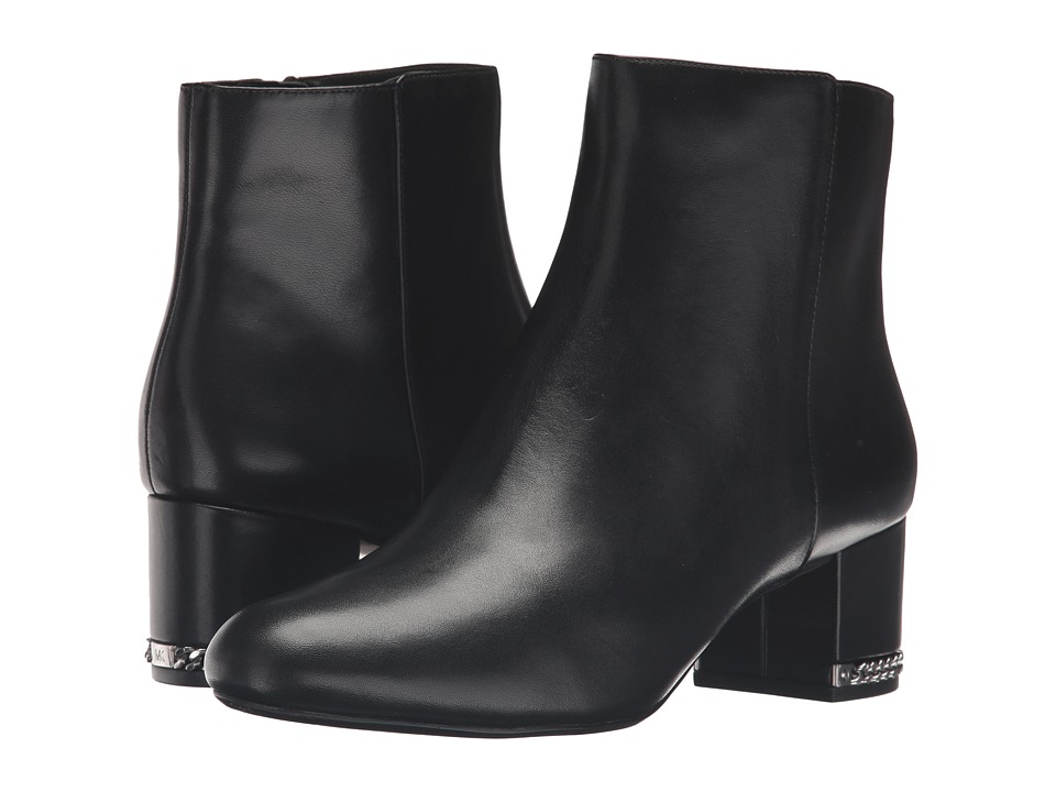 MICHAEL Michael Kors - Sabrina Mid Bootie (Black Smooth Calf) Women's Boots