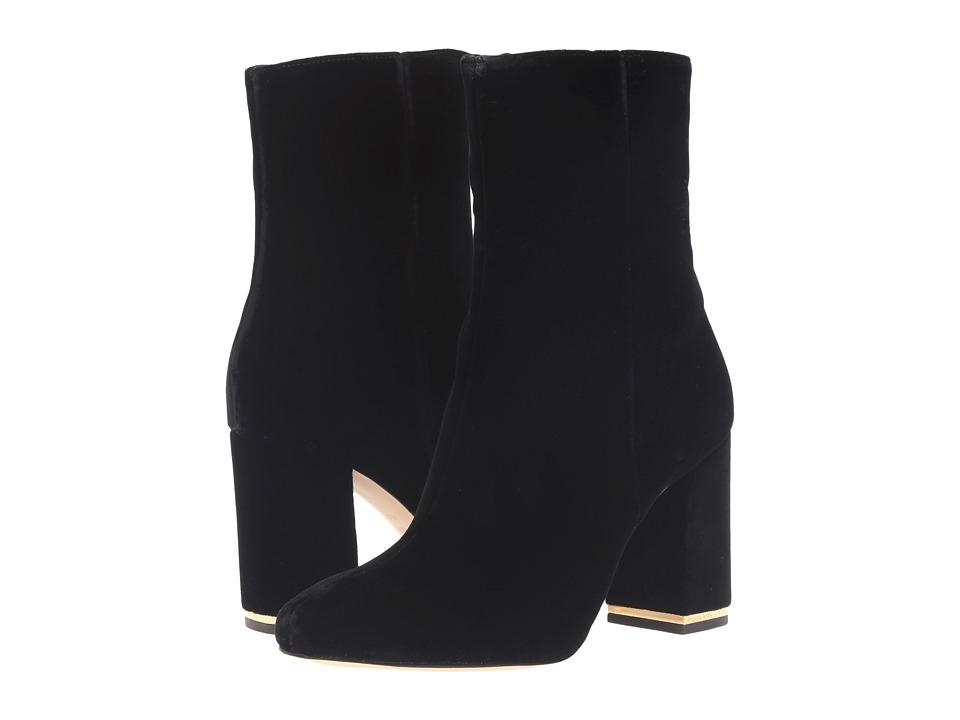 Michael Kors Ursula Bootie (Black Velvet) Women's Boots