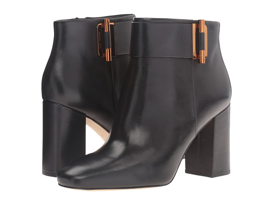MICHAEL Michael Kors Gloria Bootie (Black Smooth Calf) Women