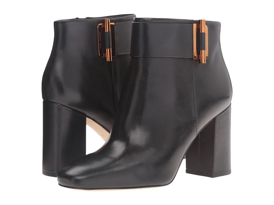 MICHAEL Michael Kors Gloria Bootie Black Smooth Calf Boots