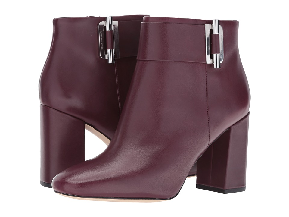MICHAEL Michael Kors Gloria Bootie (Plum Smooth Calf) Women