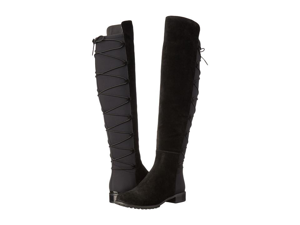 MICHAEL Michael Kors Skye Boot (Black Sport Suede/Scuba) Women