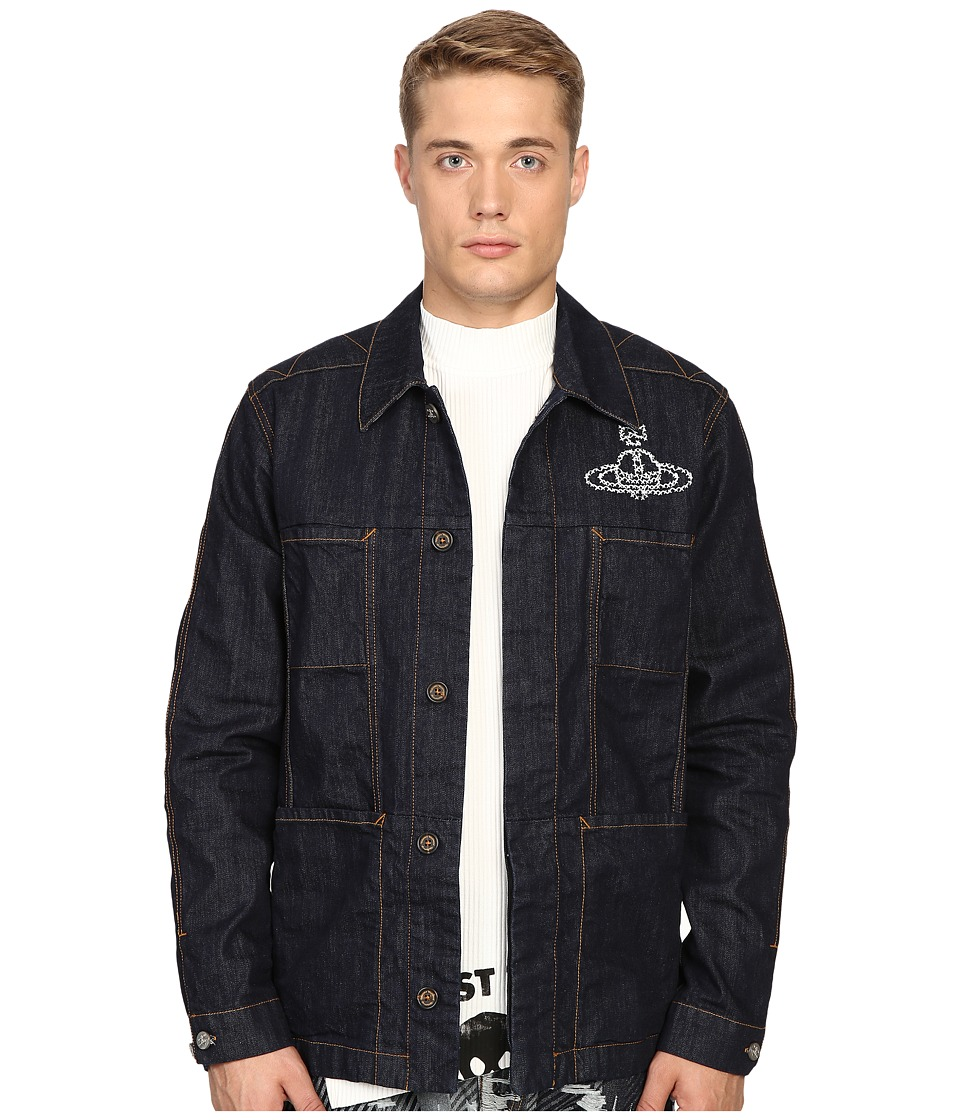 Vivienne Westwood - Anglomania Worker's Jacket (Blue Denim) Men's Coat