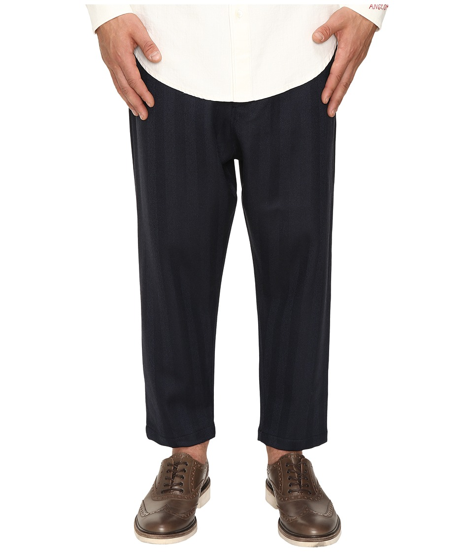 Vivienne Westwood - Anglomania Samurai Track Trousers (Blue/Grey) Men's Casual Pants