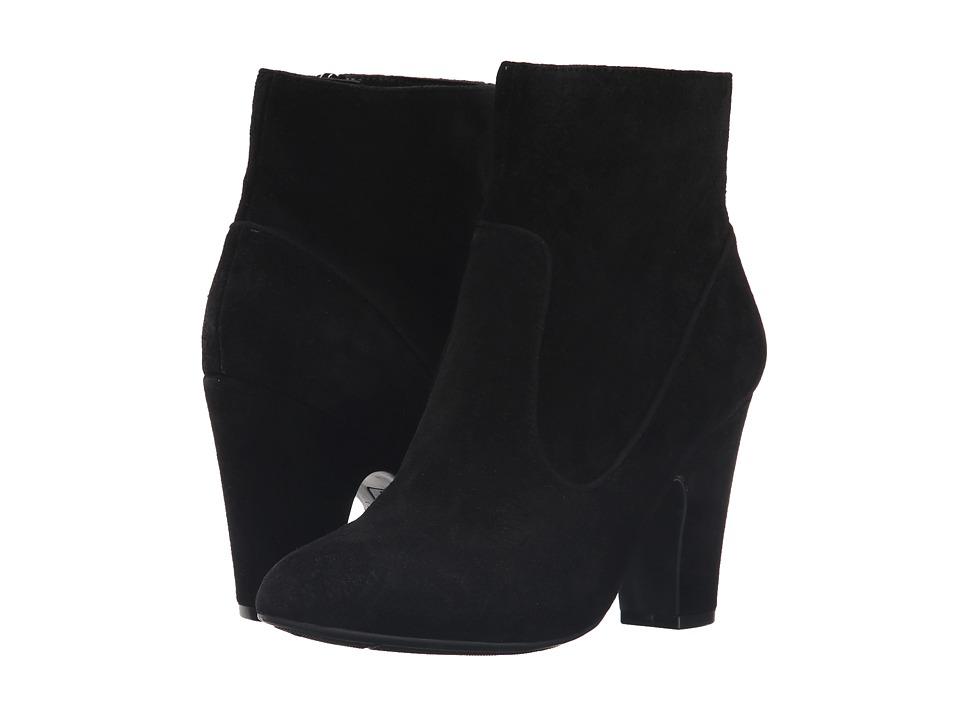 Anne Klein - Bayrose (Black/Black Suede) Women's Zip Boots