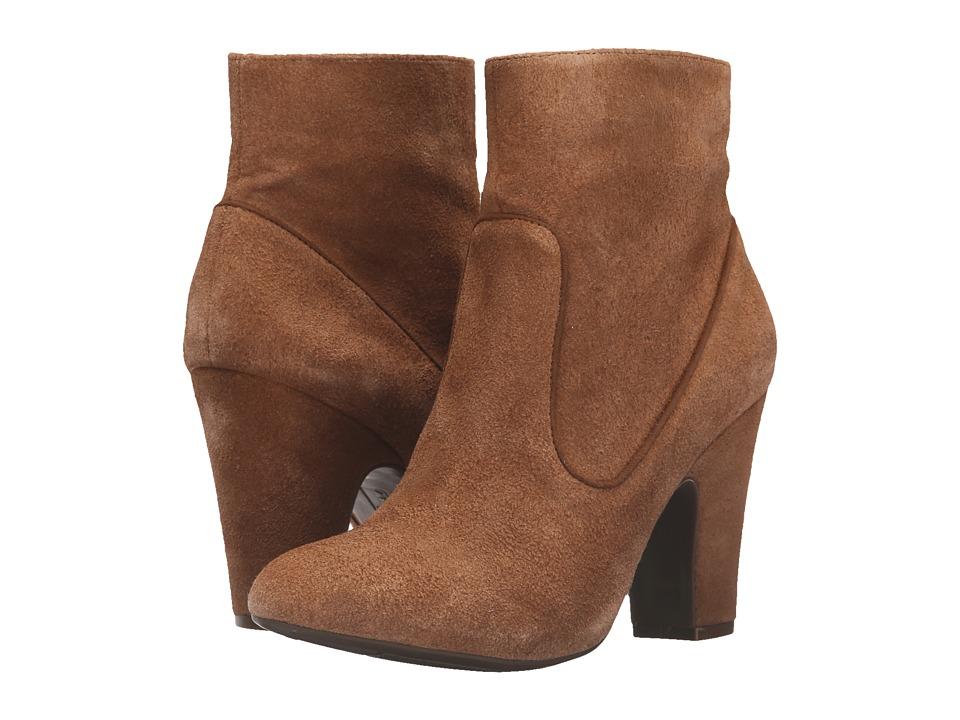 Anne Klein Bayrose Medium Natural Medium Natural Suede Womens Zip Boots